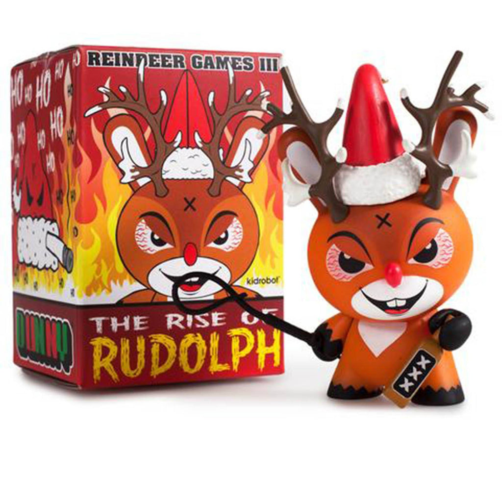 Kidrobot Dunny Rise Of Rudolph Holiday Mini Vinyl Figure