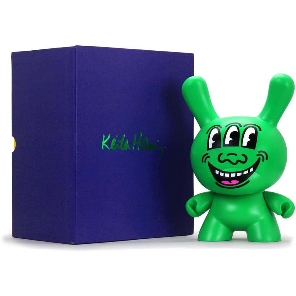 Kidrobot Limited Edition Figures - Kidrobot Keith Haring Three Eyed Monster 8 Inch Dunny Figure