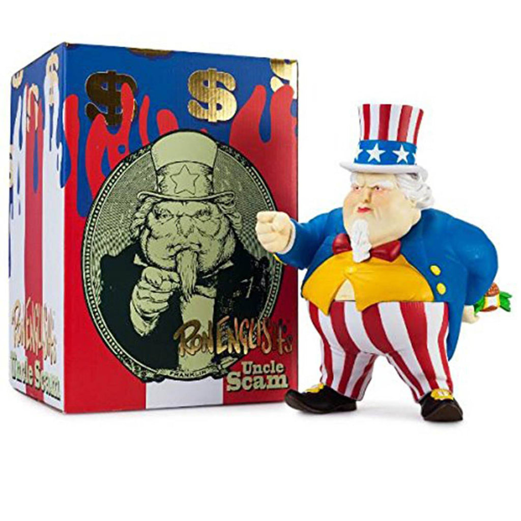Kidrobot Uncle Scam Ron English 8 Inch Vinyl Figure