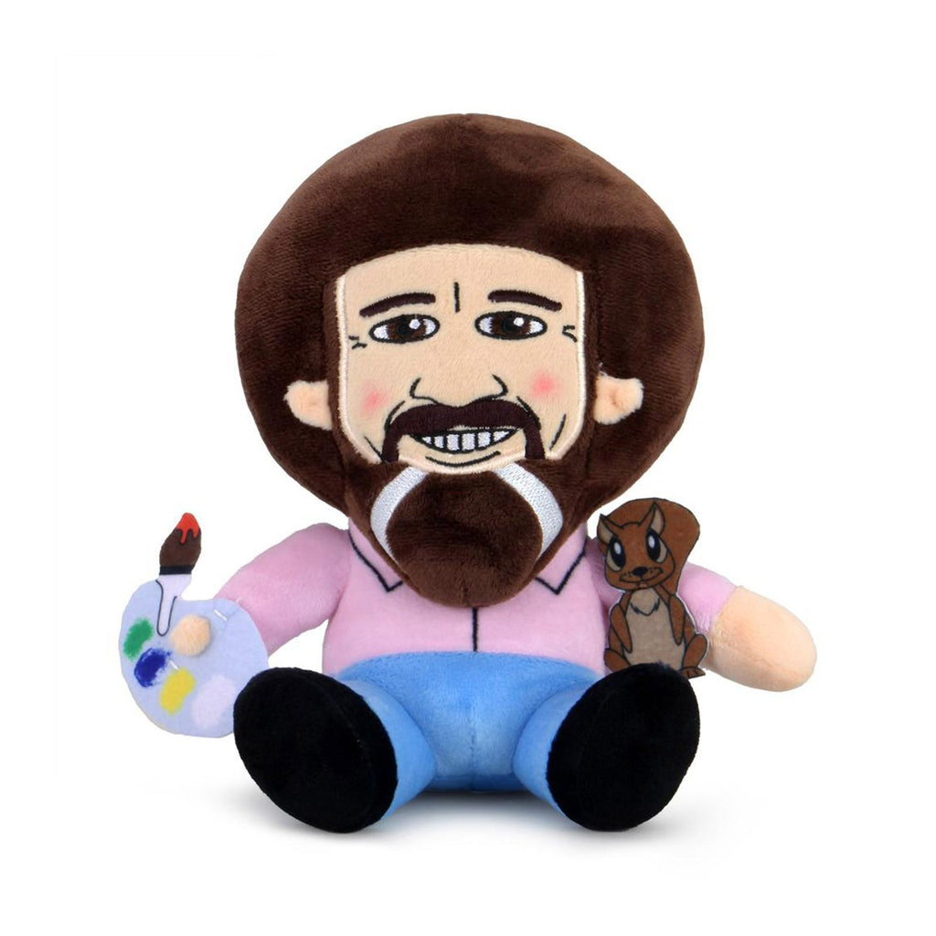 Kidrobot Bob Ross Pink Shirt With Peapod Phunny Plush Figure