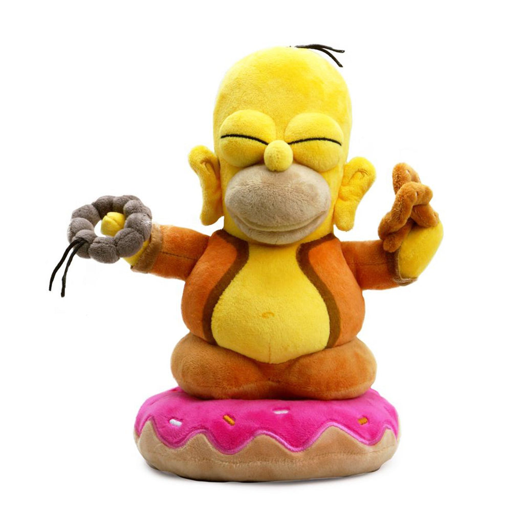Kidrobot Simpsons Homer Buddha 10 Inch Plush Figure