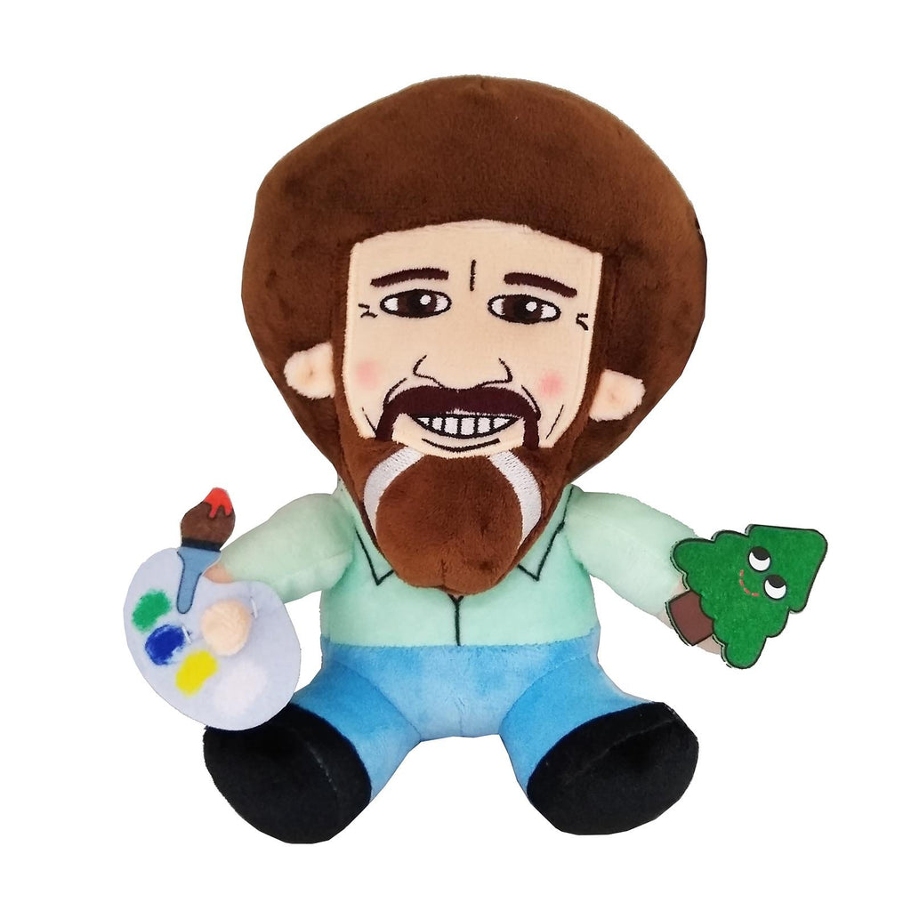 Kidrobot The Joy Of Painting Phunny Bob Ross Plush Figure