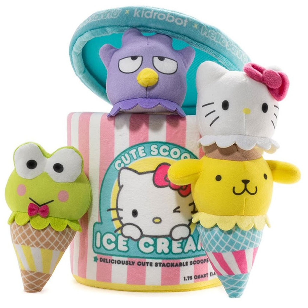 Kidrobot Sanrio Cute Scoops 10 Inch Plush Ice Cream