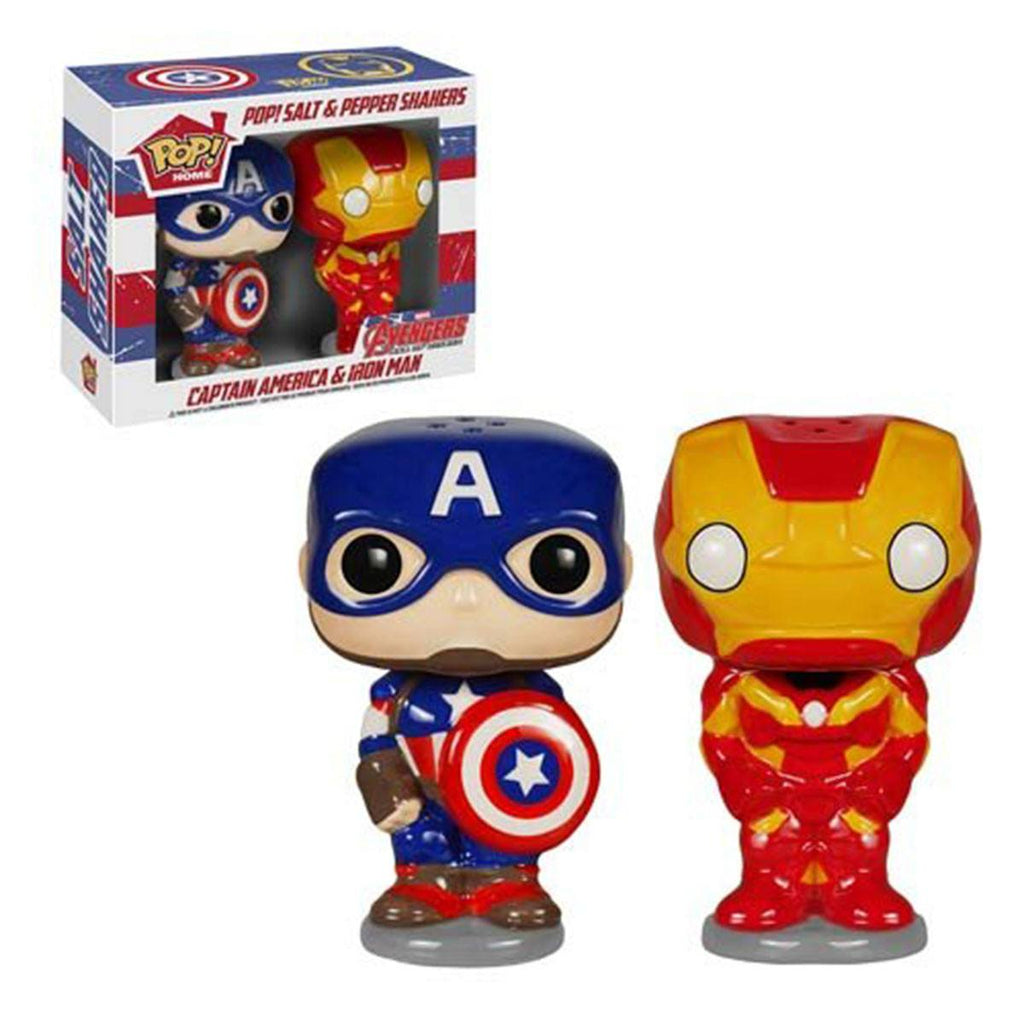 Avengers Captain America And Iron Man Salt And Pepper Shaker Set
