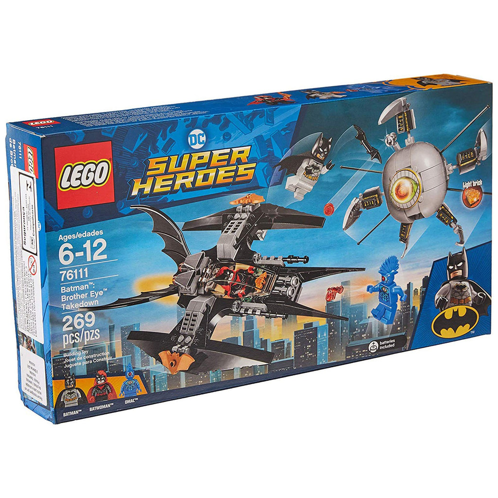 LEGO® DC Super Heroes Batman Brother Eye Takedown Building Set 76111