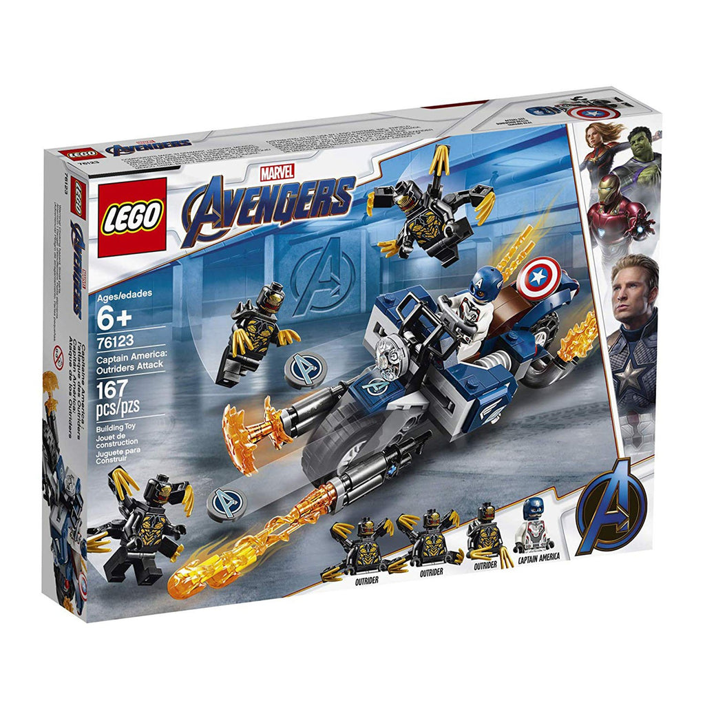 LEGO® Marvel Avengers Captain America Outriders Attack Building Set 76123