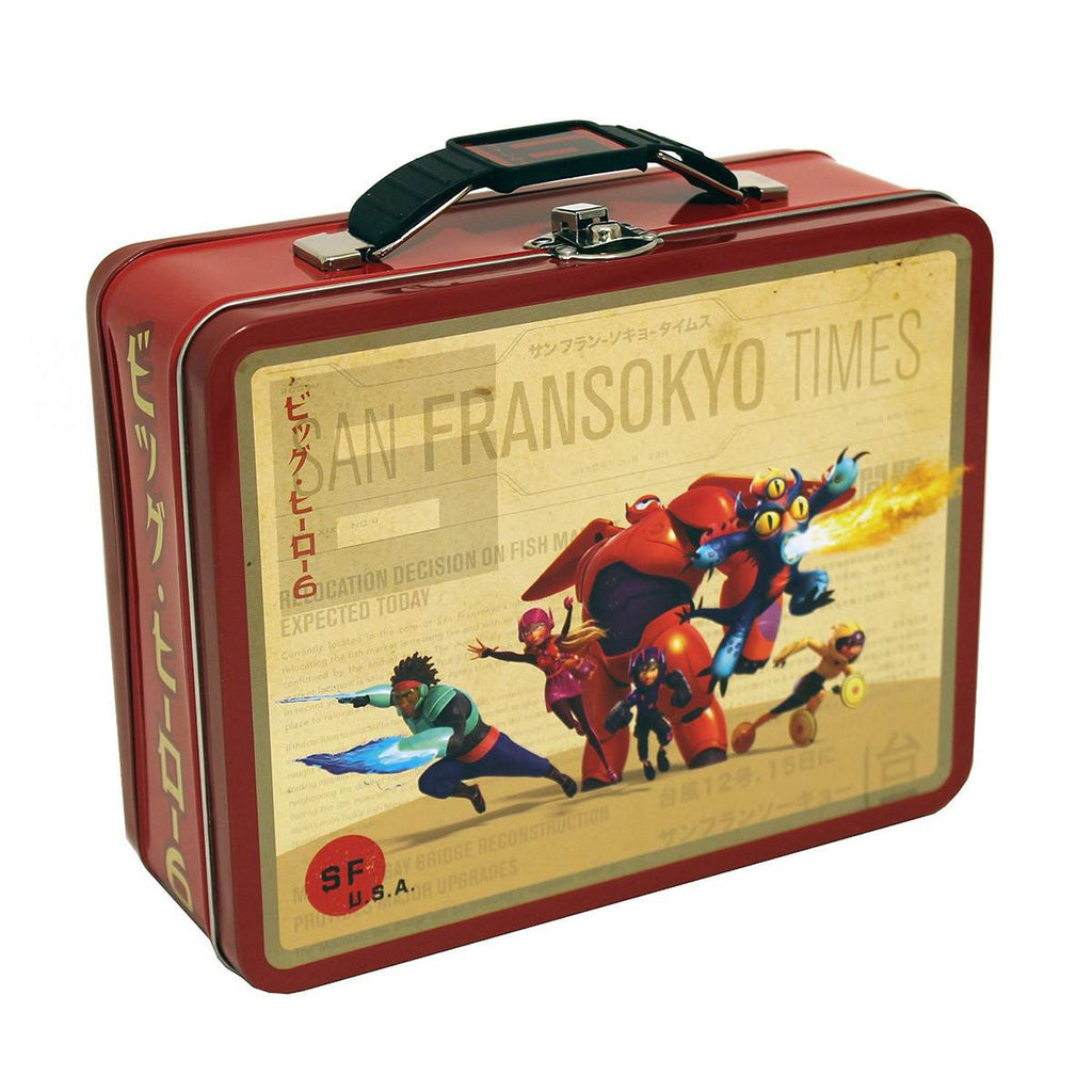 Big Hero 6 Metal Carry All Tin Lunch Box