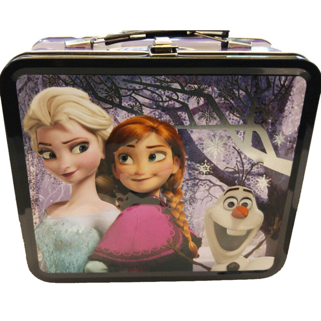Disney Frozen Metal Lunch Box Elsa Anna Olaf