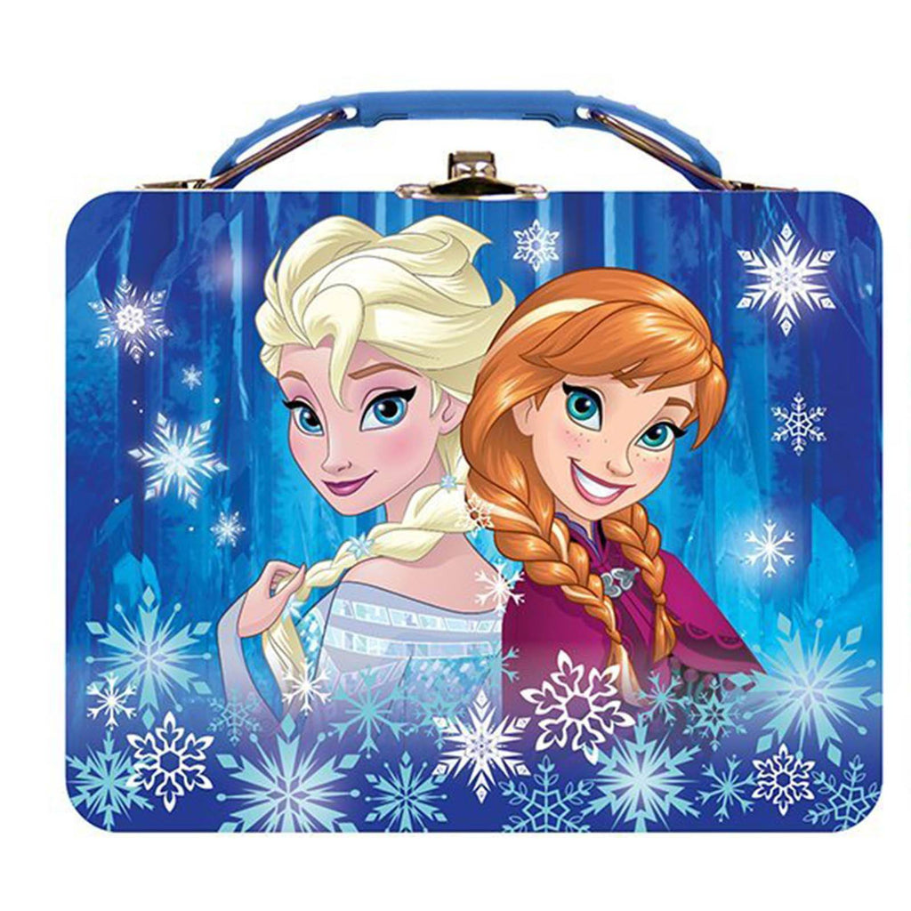 Disney Frozen Metal Tin Lunch Box Animated Sisters