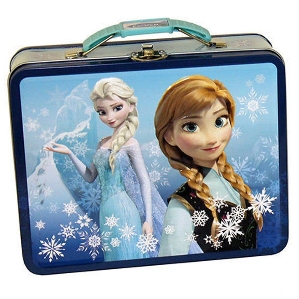 Disney Frozen Metal Tin Lunch Box Elsa and Anna