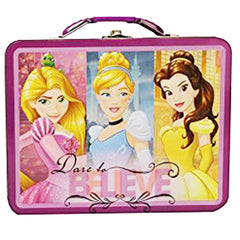 Disney Princess Metal Tin Lunch Box Dare To Believe - Radar Toys