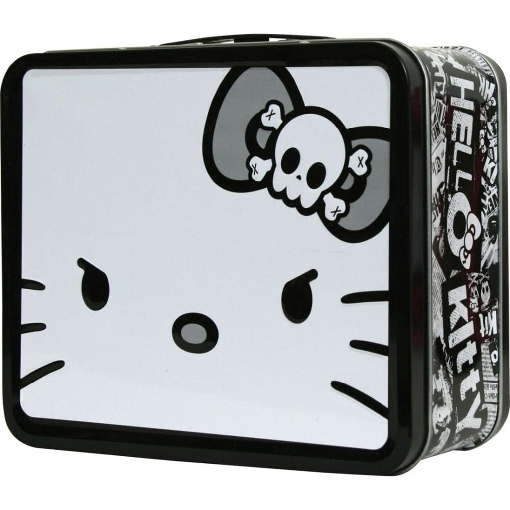 Hello Kitty Metal Tin Lunch Box Angry Giant Face