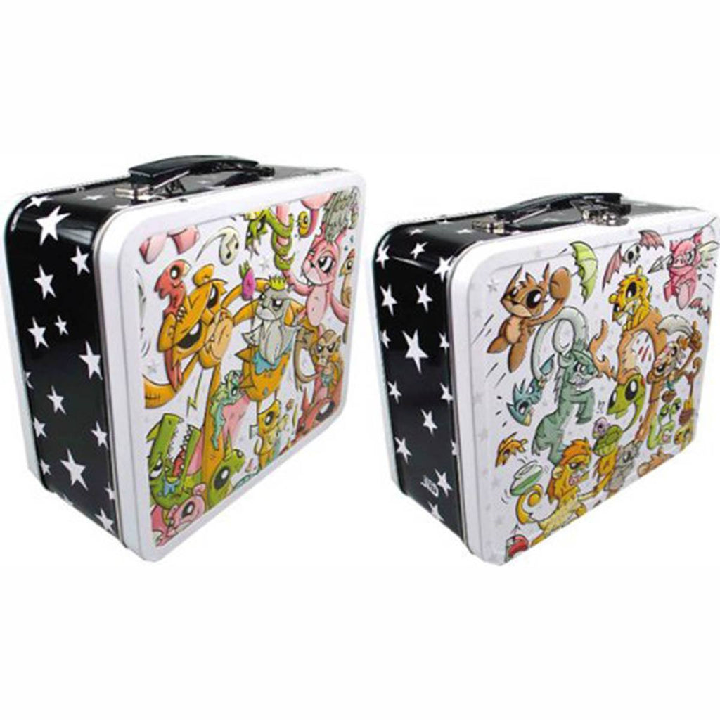 Joe Ledbetter Creature Collage Metal Tin Lunch Box