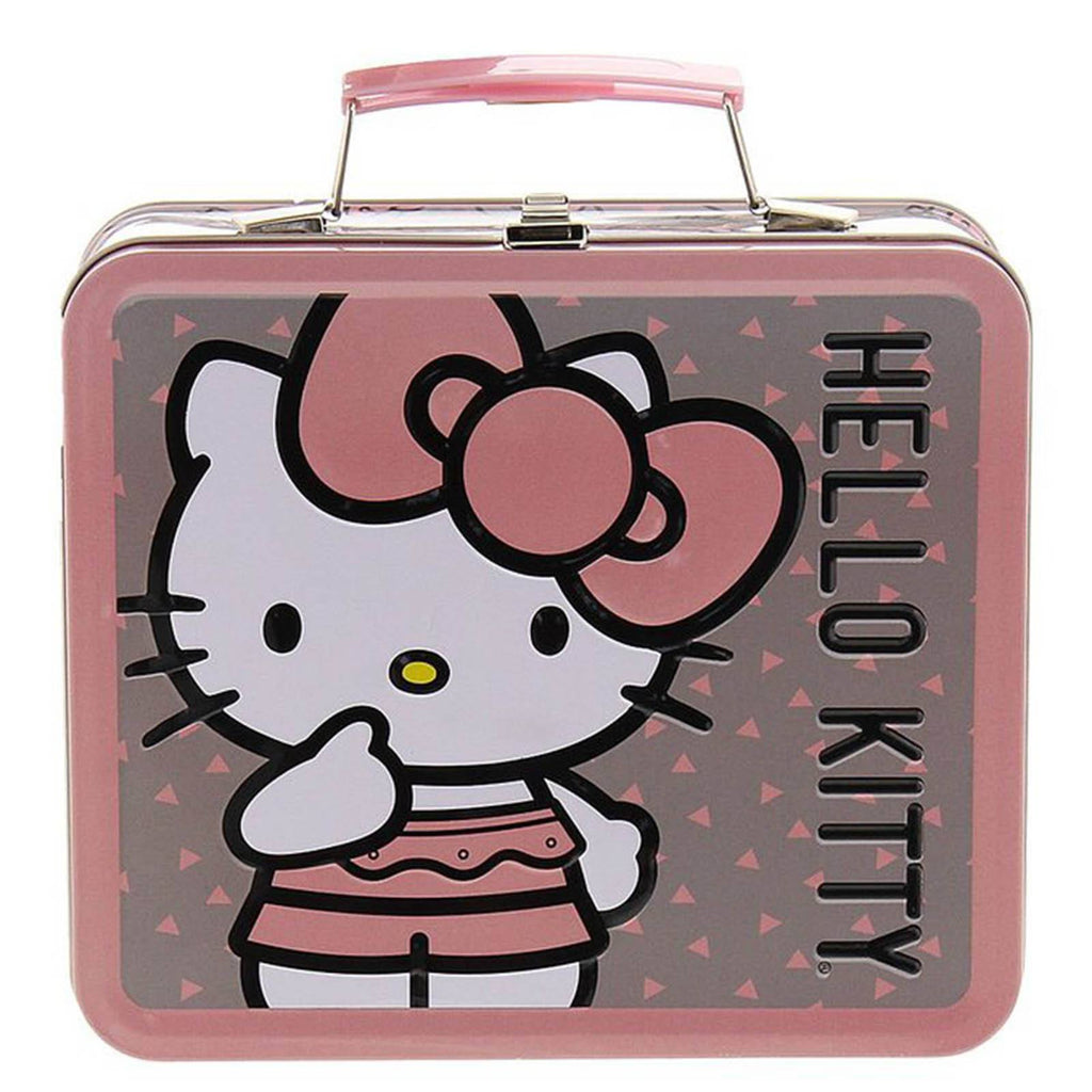 Loungefly Hello Kitty Pink Big Bow Metal Lunch Box