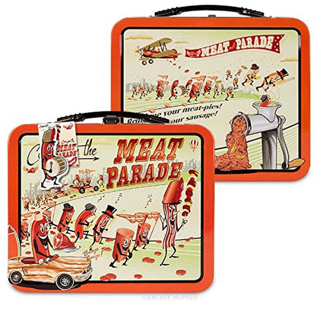 Meat Parade Metal Tin Lunch Box