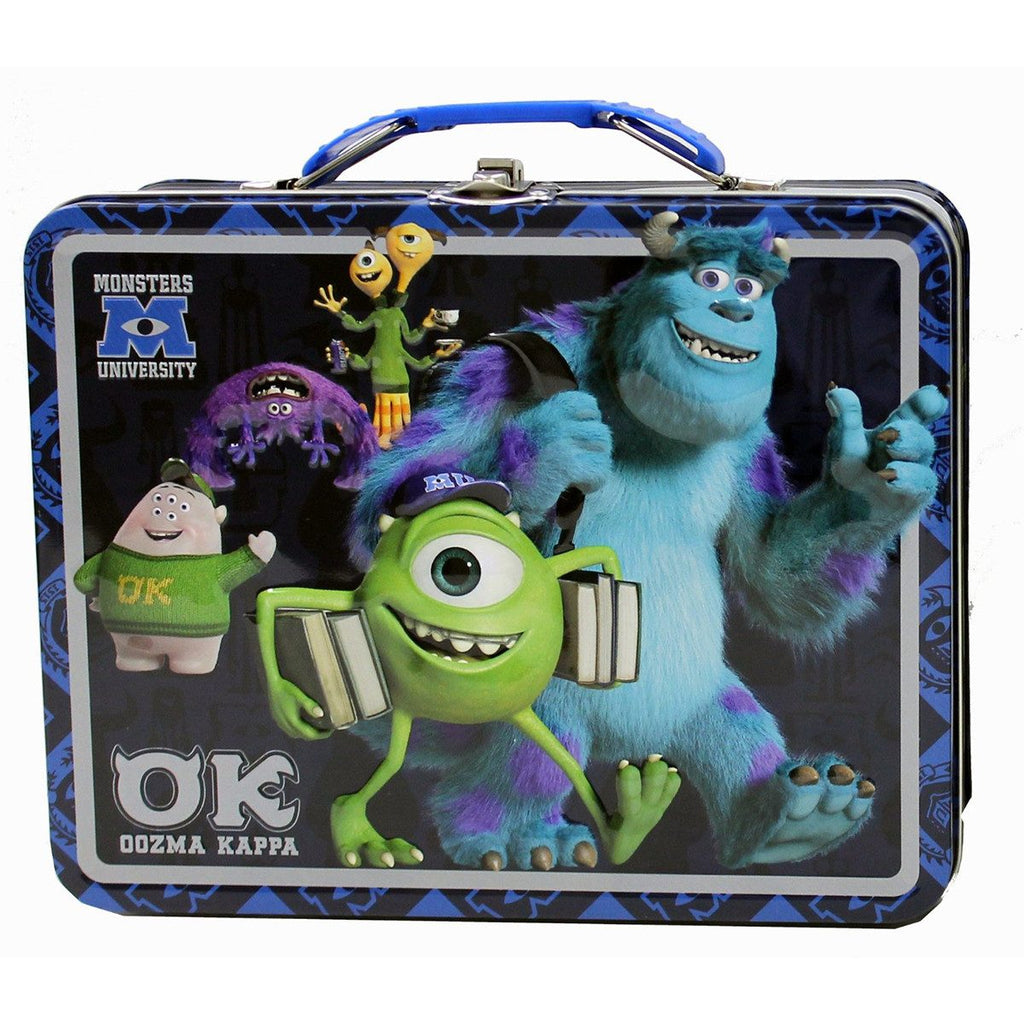 Monsters Inc University Metal Tin Lunch Box Oozma Kappa - Radar Toys