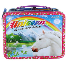 Lunch Boxes - Unicorn Power Metal Tin Lunch Box