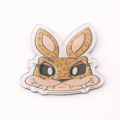 Chaos Bunnies Magnet Series Leopard Bunny Magnet - Radar Toys