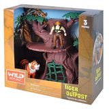 Mammal Figures - Adventure Tree Tiger Outpost Figures Playset