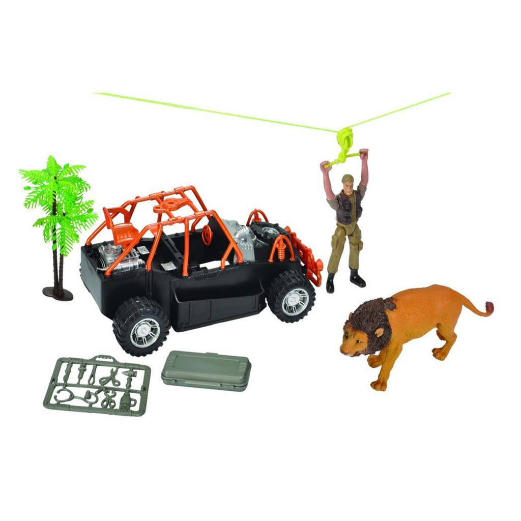 E-Team Safari Zip Line Tour Figures Playset
