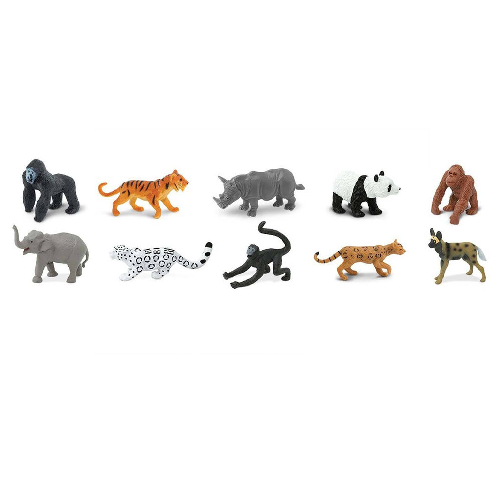 Endangered Species Land Animals Toob Mini Figures Safari Ltd