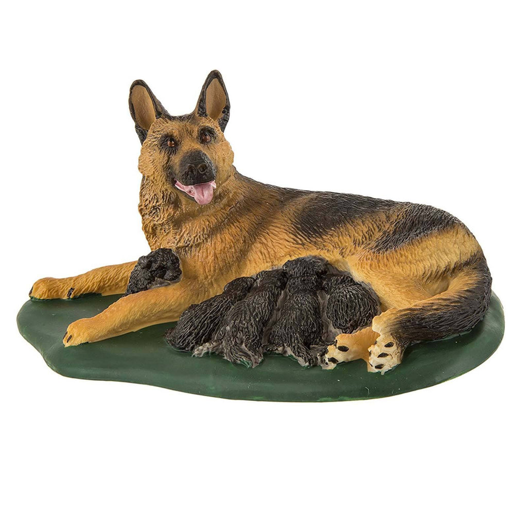 German Shepherd With Puppies Dogs Figure Safari Ltd