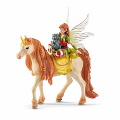 Mammal Figures - Schleich Fairy Marween With Glitter Unicorn Bayala Fantasy Figure 70567