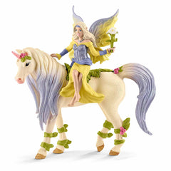 Mammal Figures - Schleich Fairy Sera With Blossom Unicorn Bayala Fantasy Figure 70565