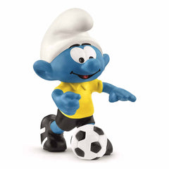 Mammal Figures - Schleich Smurfs Football Smurf With Ball Coach Figure 20806