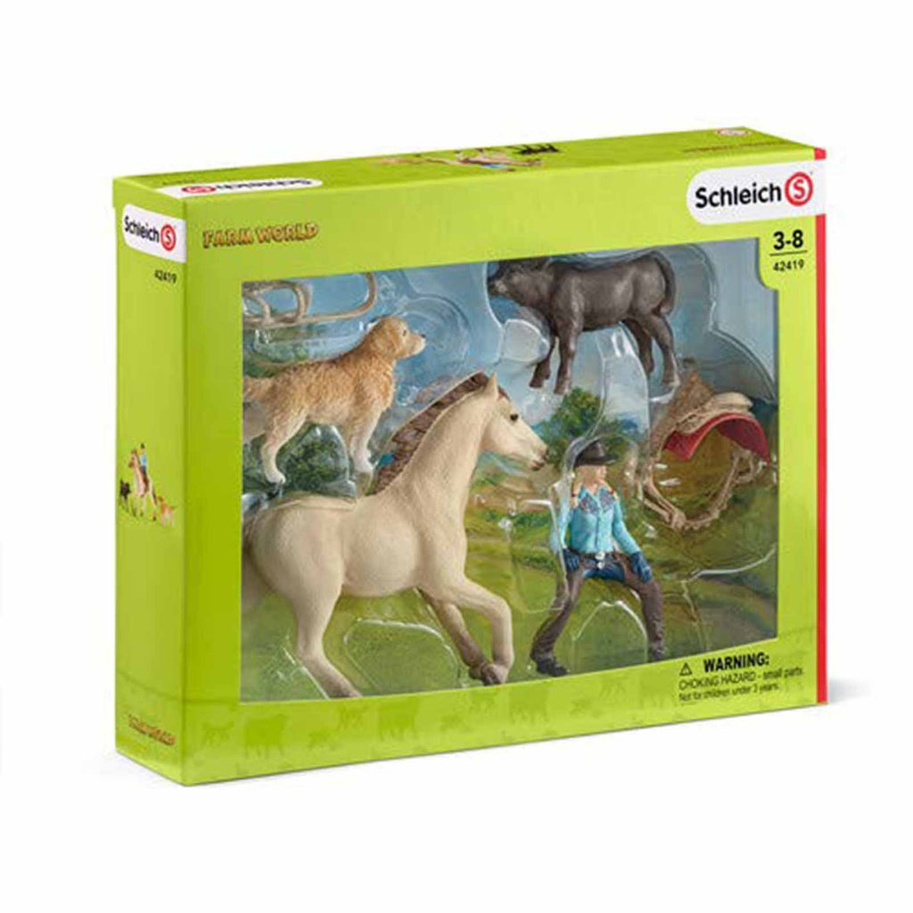 Mammal Figures - Schleich Western Riding Farm World Figure Set 42419