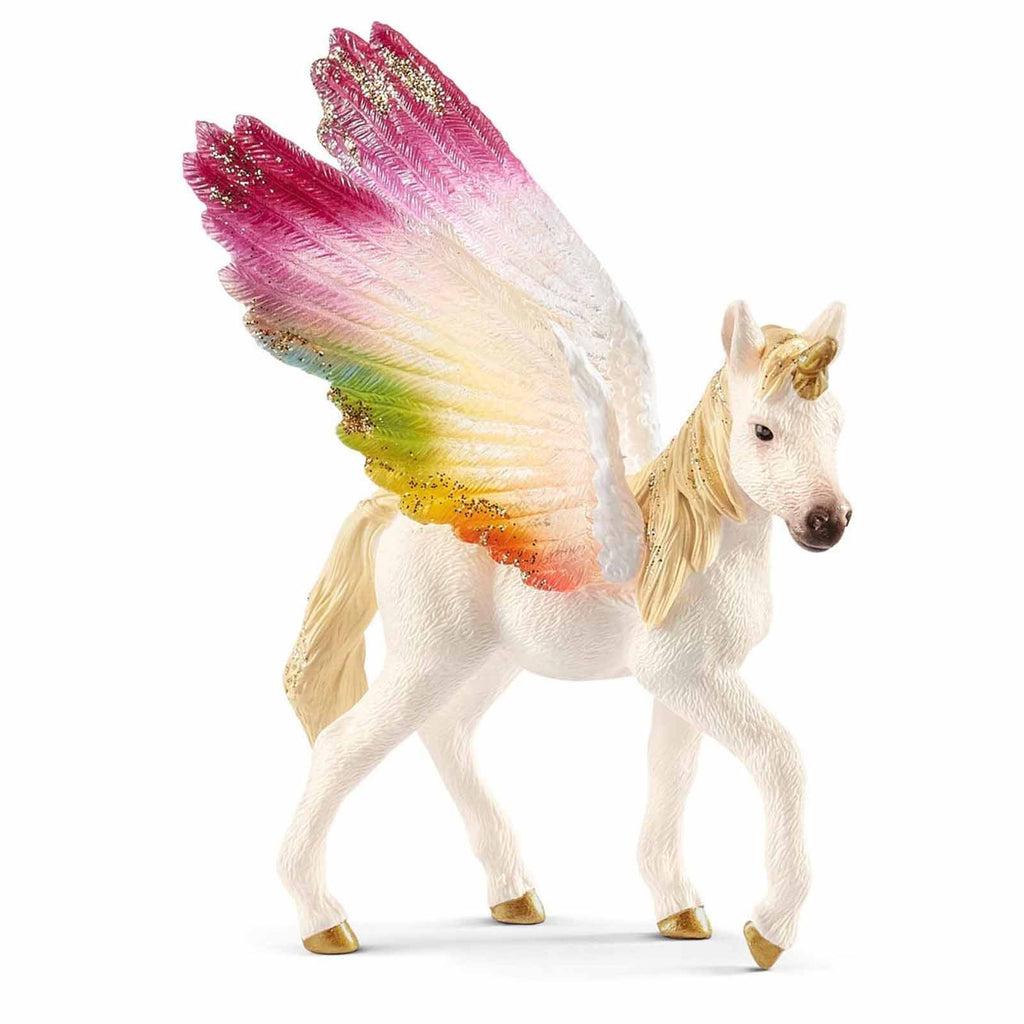 Schleich Winged Rainbow Unicorn Foal Bayala Fantasy Figure 70577