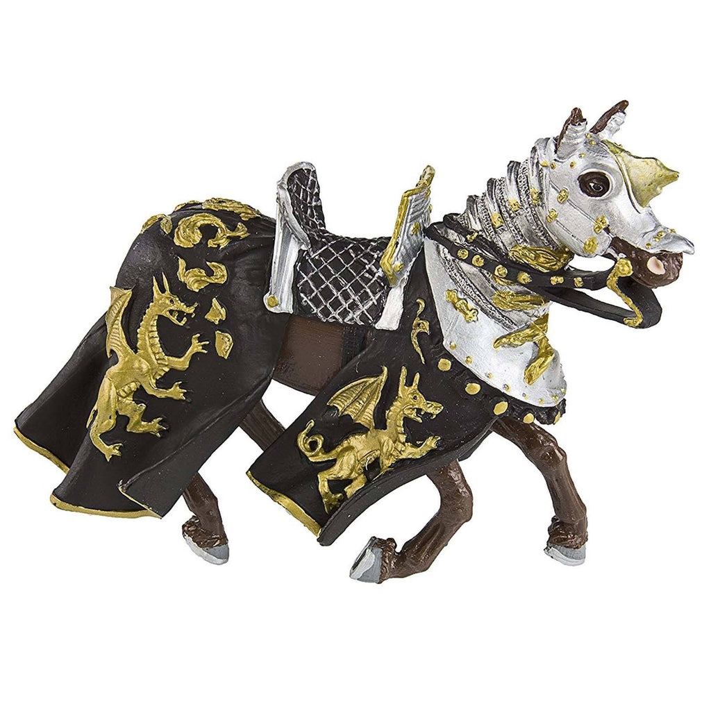 Horse With Black Robe And Gold Dragon Figure Safari Ltd