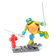 Mega Bloks - Mega Bloks Teenage Mutant Nina Turtles Leo Katana Swat Building Set