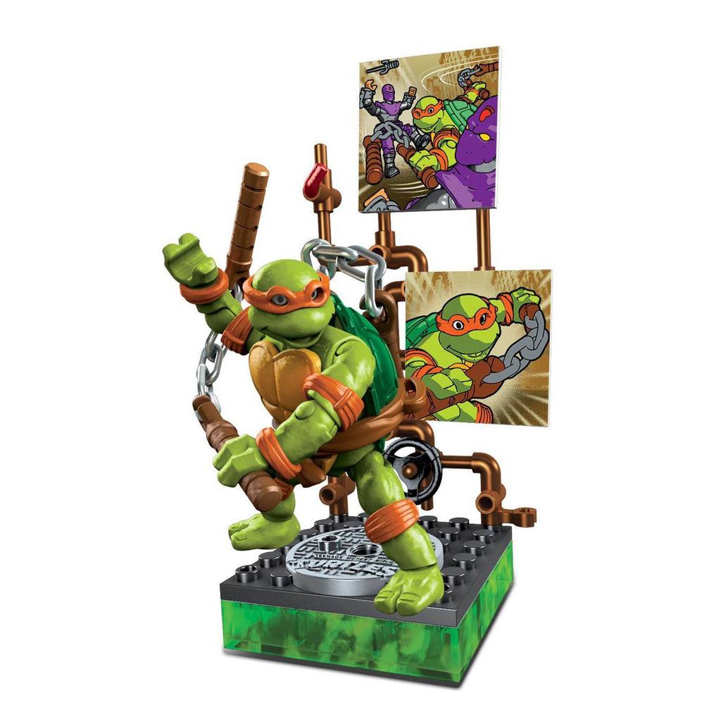 Mega Bloks Teenage Mutant Ninja Turtles Collector Classic Michelangelo Figure