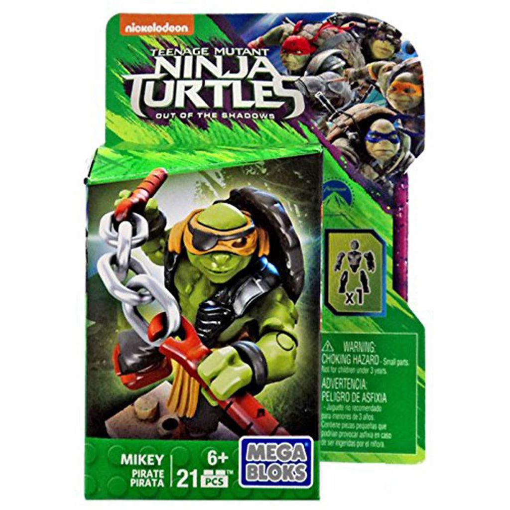Mega Bloks Teenage Mutant Ninja Turtles Pirate Mikey Figure