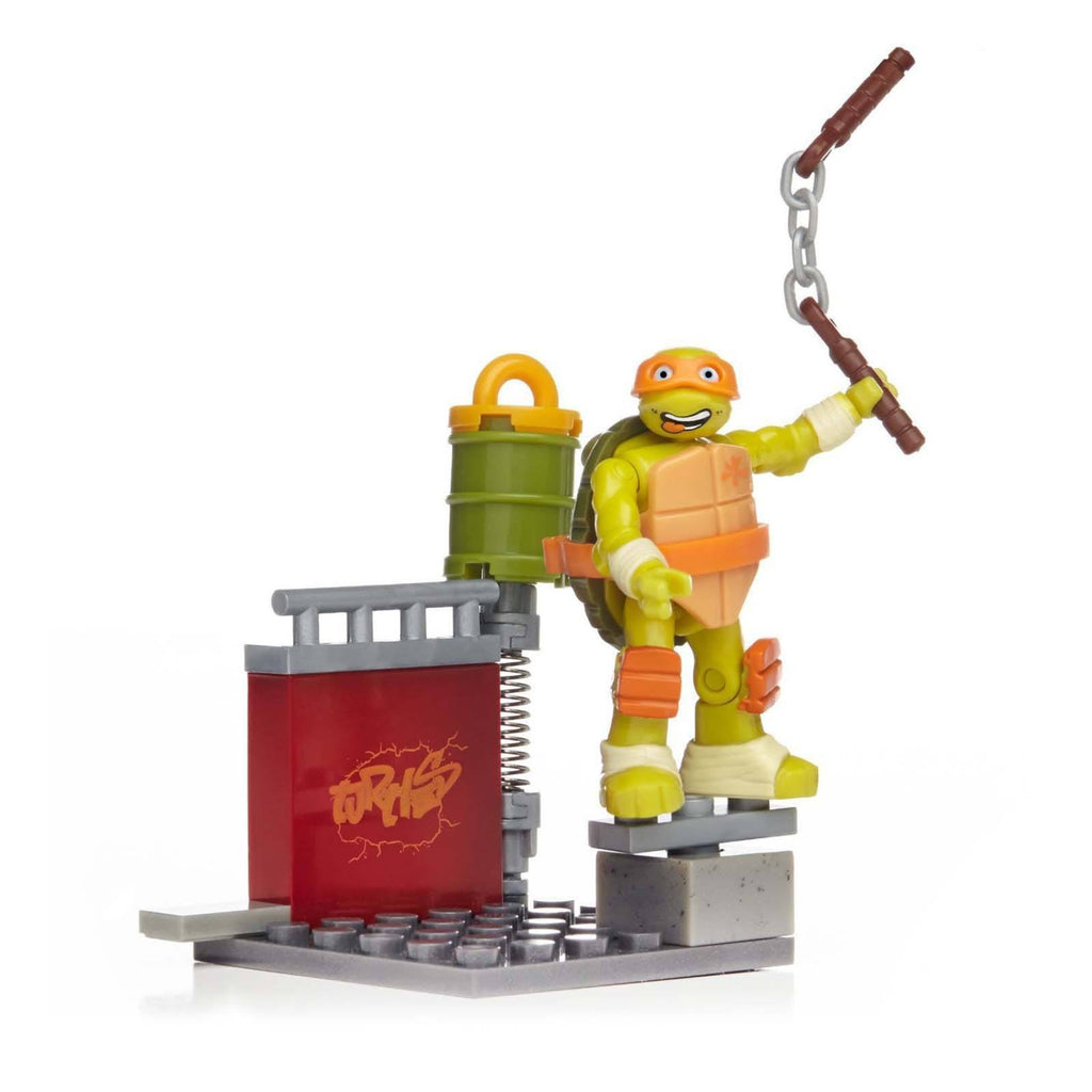 Mega Bloks Teenage Mutant Ninja Turtles Skate Training Mikey Building Set
