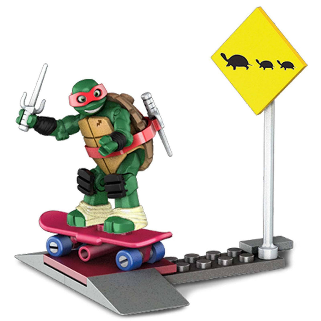 Mega Bloks Teenage Mutant Ninja Turtles Skate Training Raph Building Set