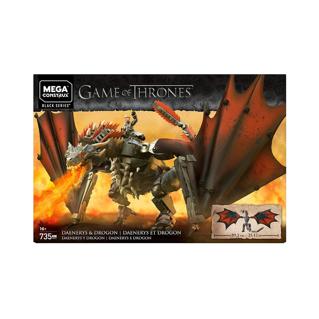 Mega Construx Game Of Thrones Black Series Daenerys Drogon Set