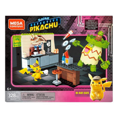 Mega Bloks - Mega Construx Pokemon Pikachu Hi Hat Cafe Building Set