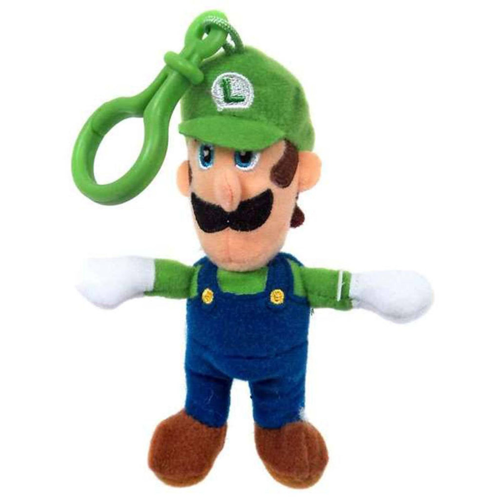 Super Mario World Of Nintendo Luigi Clip On Plush Figure