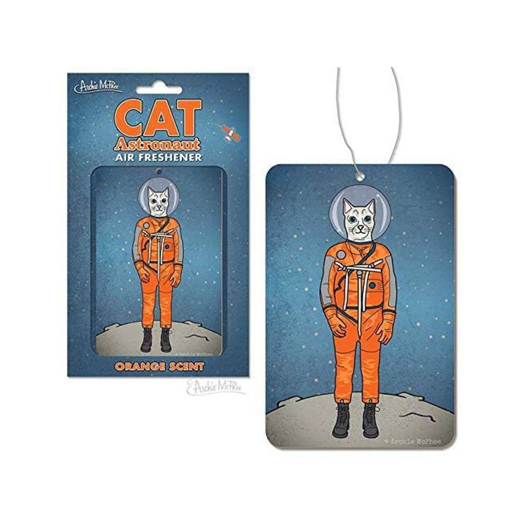Archie McPhee Cat Astronaut Orange Scented Air Freshener