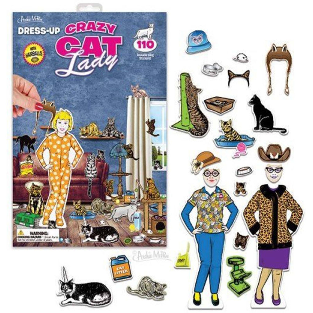 Crazy Cat Lady Dress-Up Sticker Set