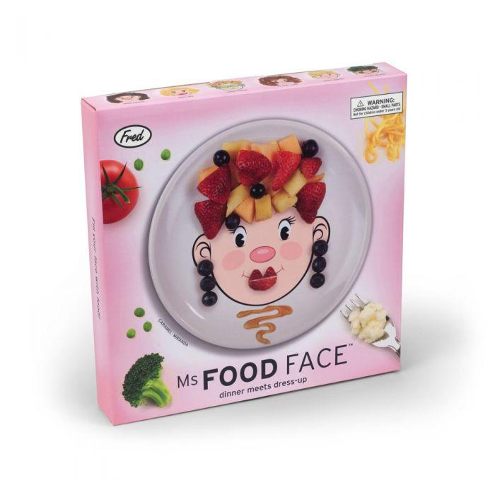 FRED Ms. Food Face Ceramic Activity Plate