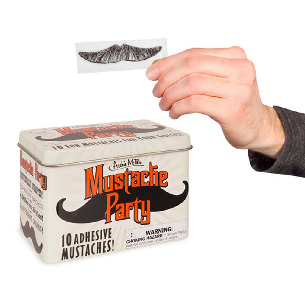Mustache Party 10 Adhesive Mustaches