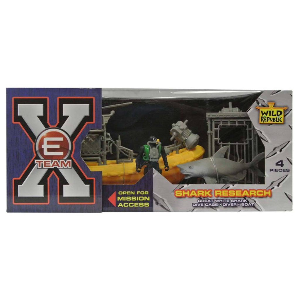 E-Team Shark Research Figures Playset