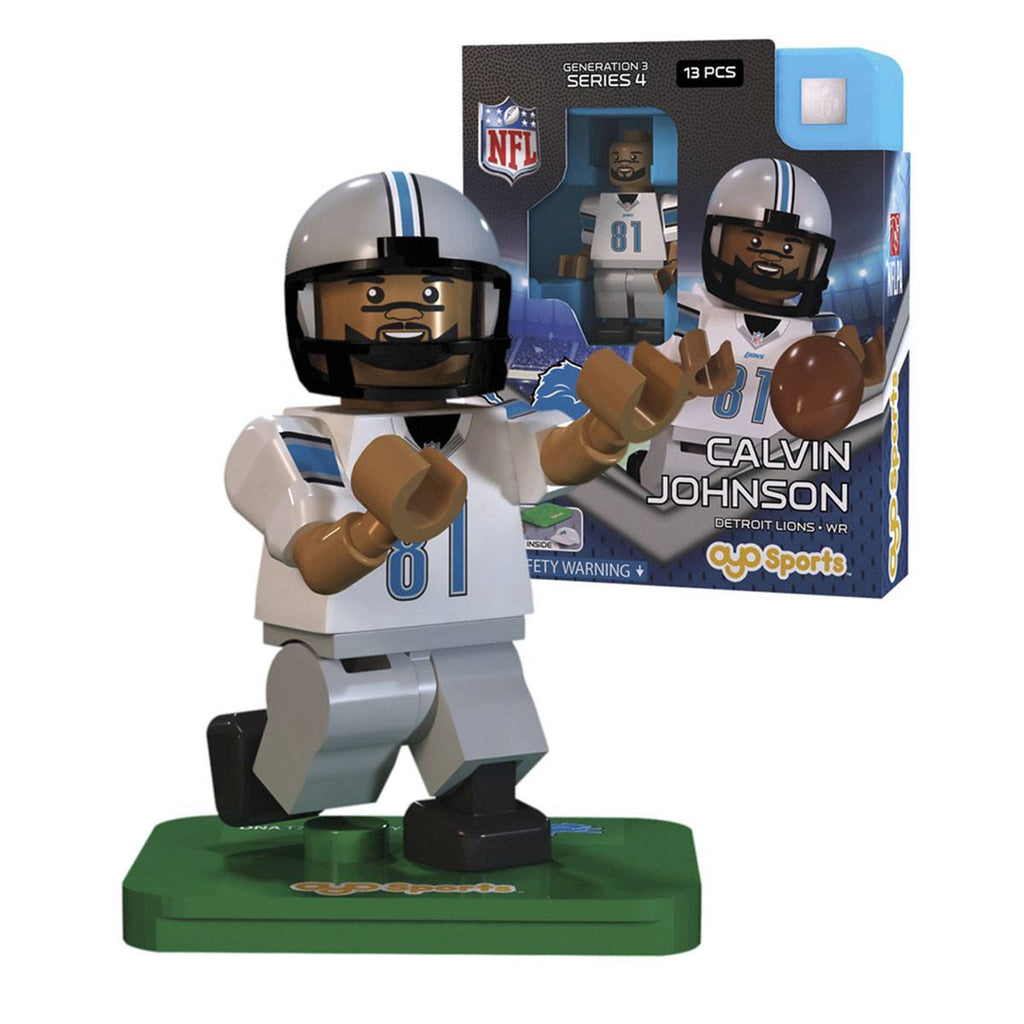 NFL Detriot Lions Calvin Johnson G3S4 OYO Mini Figure
