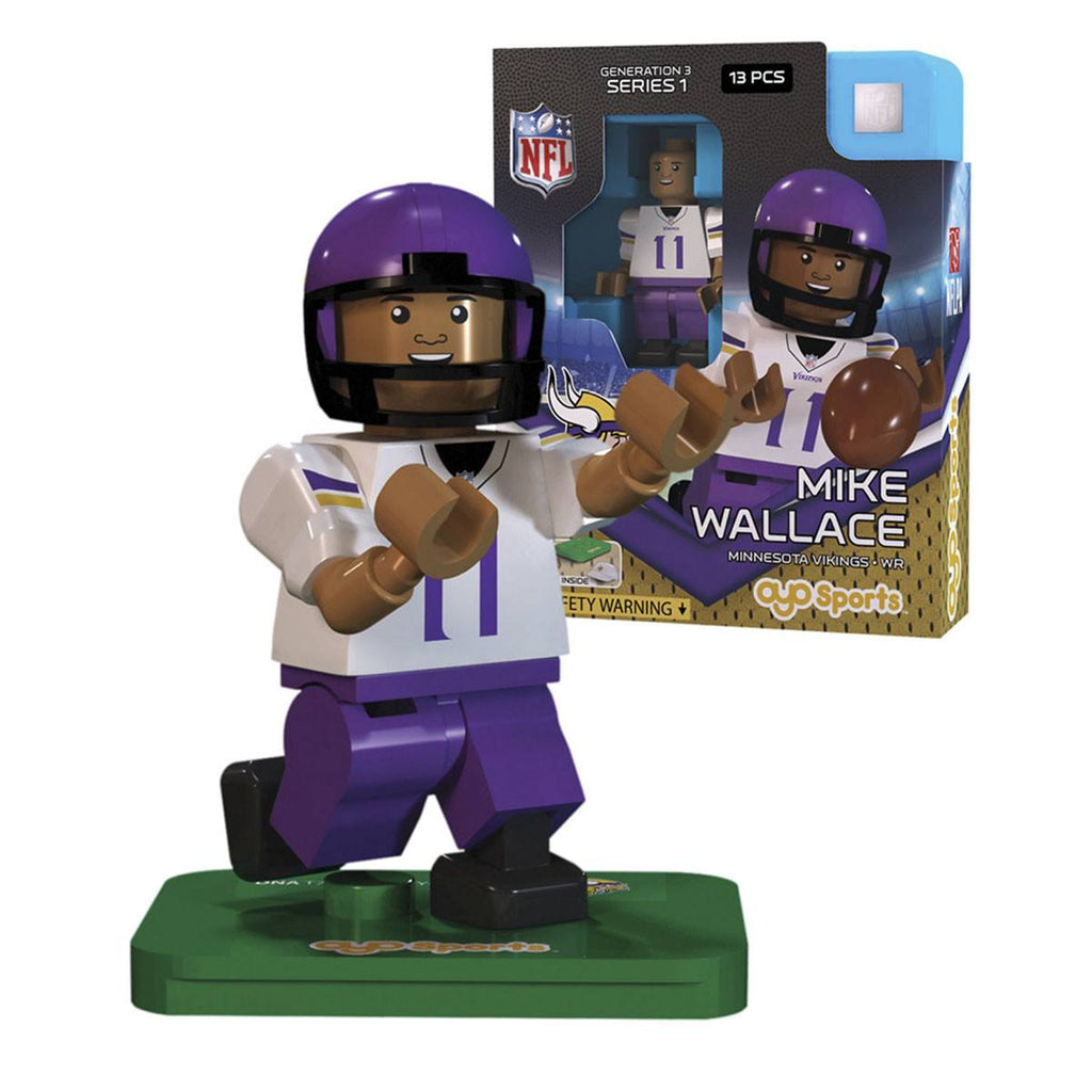 NFL Minnesota Vikings Mike Wallace G3S1 OYO Mini Figure