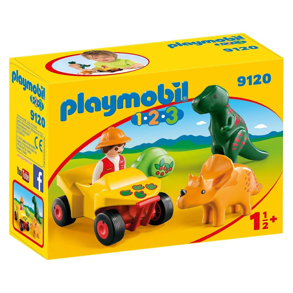 Playmobil 123 Explorer With Dinos Building Set 9120