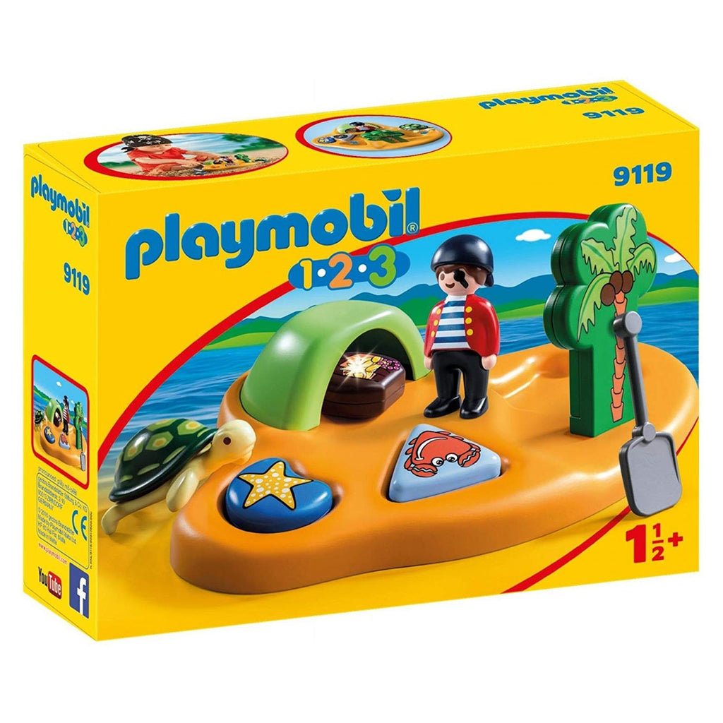 Playmobil 123 Pirate Island Building Set 9119
