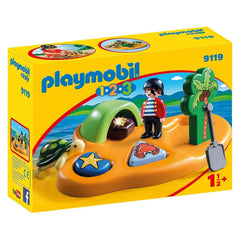 Playmobil - Playmobil 123 Pirate Island Building Set 9119
